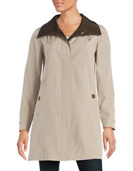Gallery Petite A Line Rain Coat Natural