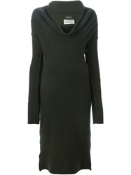 Maison Margiela Vintage Cowl Neck Knitted Dress Green
