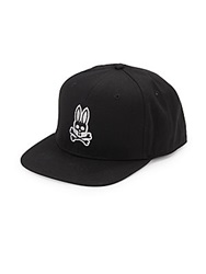 Psycho Bunny Cotton Logo Cap Black