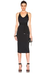 David Koma Side Cut Out Pencil Dress In Black