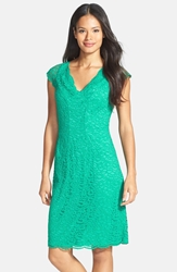 Donna Ricco Stretch Lace Dress Regular And Petite Teal