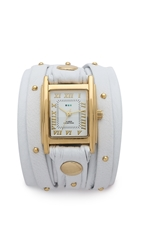 La Mer Stud Wrap Watch White Gold