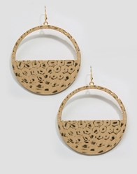 Aldo Bossert Hoop Drop Earrings Gold