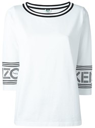 Kenzo Scoop Neck T Shirt White
