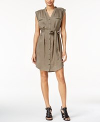 Bar Iii Belted Utility Dress Only At Macy's True Olive