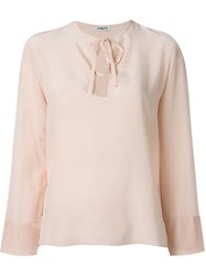 Cacharel 'Baillerine' Blouse Pink And Purple
