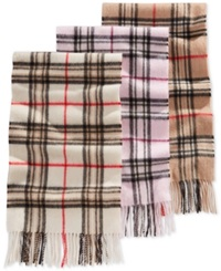 Charter Club Signature Plaid Cashmere Muffler Only At Macy's Ivory