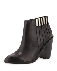 L.A.M.B. Todd Leather Ankle Boot Black