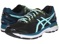 Asics Gt 2000 4 Black Pool Blue Flash Yellow Women's Running Shoes