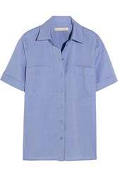 Vanessa Bruno Bangalore Cotton Chambray Shirt Blue