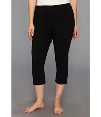 Hue Plus Size Cotton Capri Black Women's Capri