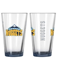Boelter Brands Denver Nuggets Elite Glass Pint 2 Pack Clear Team Color
