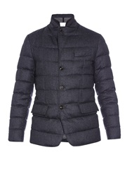 Moncler Rodin Quilted Down Wool Flannel Jacket