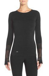 Alo Yoga Women's Alo 'North Star' Long Sleeve Top Black
