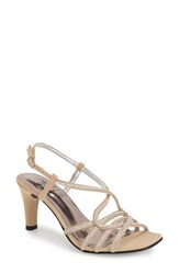 Women's Love And Liberty 'Lisette' Jeweled Sandal Champagne