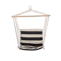 Bloomingville Hammock Chair Black Stripe