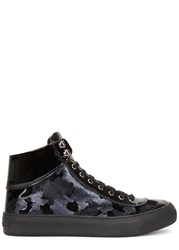 Jimmy Choo Argyle Patent Leather Hi Top Trainers Navy