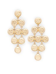 Catherine Malandrino Bohemian Metals Chandelier Earrings Gold