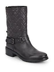 Aquatalia By Marvin K Shannon Quilted Leather Booties Black
