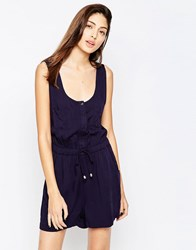 Brave Soul Military Romper With Front Pocket Navy