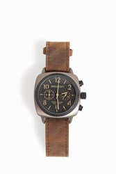 Briston Watches Trendsetter Chrono Leather Watch Brown
