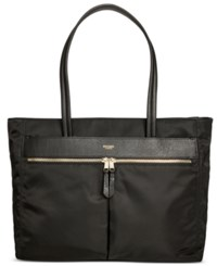 Knomo London Nylon Zip Tote Black