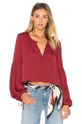 L'academie The Airy Blouse Burgundy