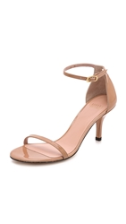Stuart Weitzman Naked 65Mm Patent Sandals Adobe