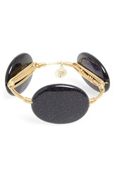 Bourbon And Boweties Medium Stone Bracelet Navy Blue