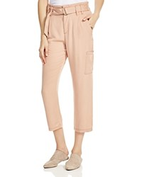 Free People Cropped Cargo Pants Peach