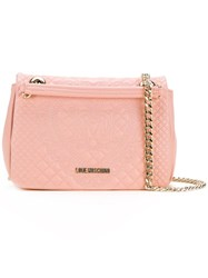 Love Moschino Chain Strap Shoulder Bag Pink Purple