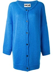 Hache Button Down Cardi Coat Blue