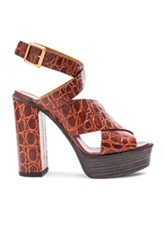 Chloe Chloe Strappy Platform Sandals In Brown Animal Print