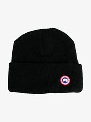 Canada Goose Merino Wool Beanie Black White Red Blue Denim