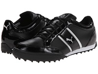 Monolite Cat Black White Puma Silver Women's Golf Shoes