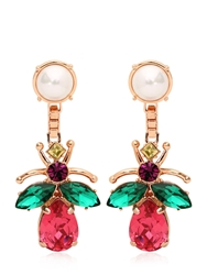 Mawi Love Bug Crystal Earrings Multi