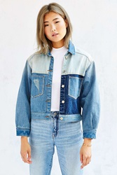 Unif Denim Colorblocked Jacket Vintage Denim Medium