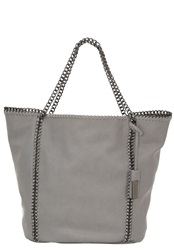 Hallhuber Faux Leather Shopper With Chain Handle Grey
