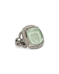 Armenta Cushion Cut Green Turquoise And Champagne Diamond Ring 6 1 2