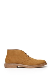 Forever 21 Faux Suede Chukka Boots Tan