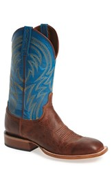 Men's Lucchese 'Alan' Western Boot Cognac Blue