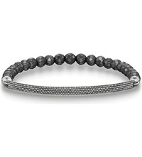 Thomas Sabo Love Bridge Sterling Silver And Haematite Bracelet