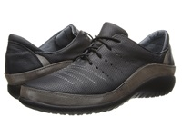 Naot Footwear Kumara Onyx Leather Silver Threads Leather Women's Lace Up Casual Shoes Black