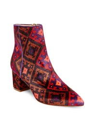Brian Atwood Kelsi Point Toe Booties Multi Colored
