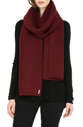 Soia And Kyo Women's Extra Long Knit Scarf Burgundy