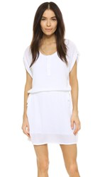 Splendid Rayon Crinkle Gauze Dress White