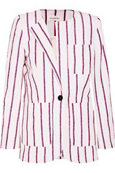 Etoile Isabel Marant Jenny Striped Cotton Blend Blazer White