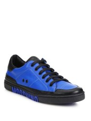 Moschino Low Top Logo Sole Sneakers Blue
