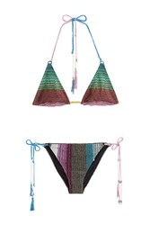 Missoni Mare Metallic Knit String Bikini Multicolor