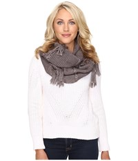 Ugg Cable Fringe Scarf Fawn Heather Multi Scarves
